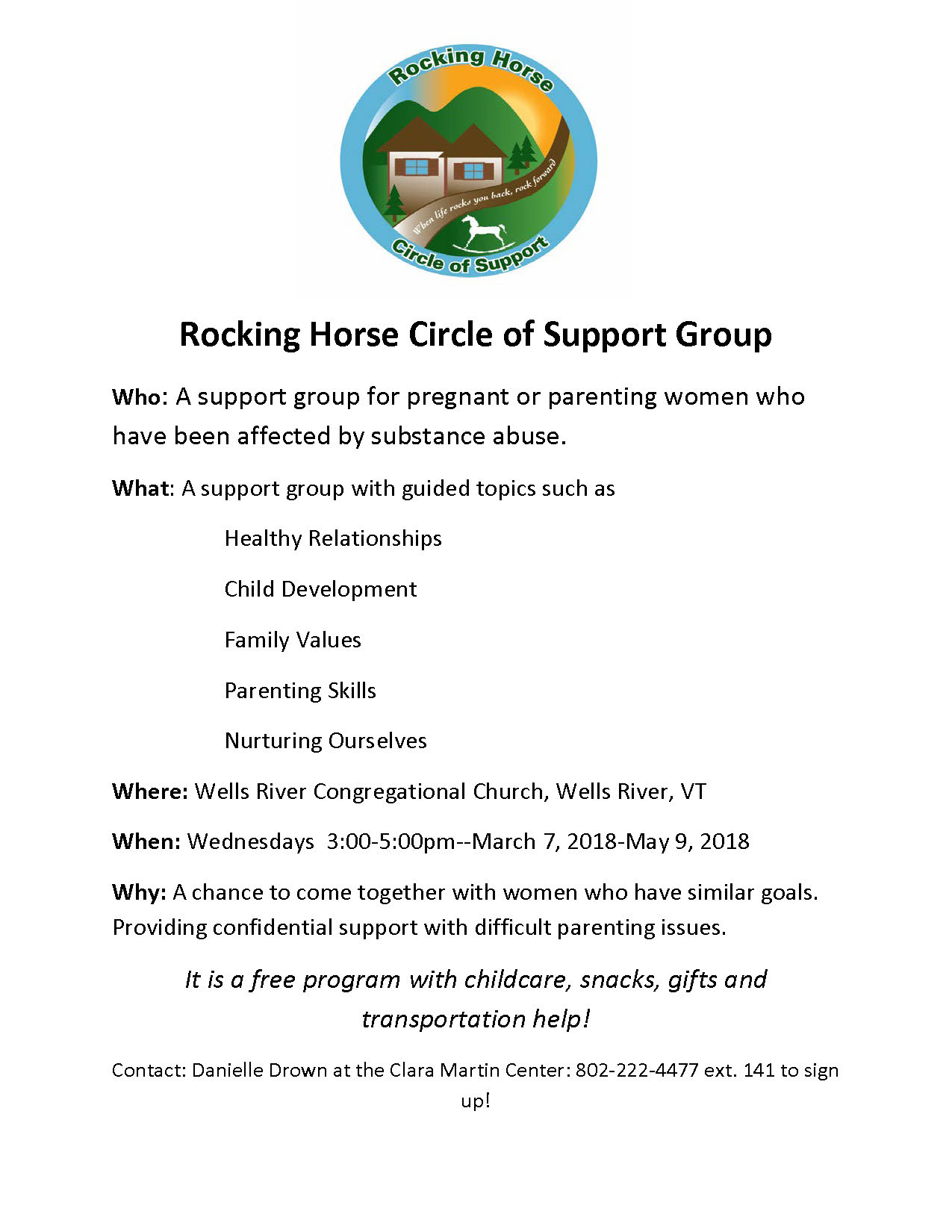 Rocking Horse Circle of Support Flyer